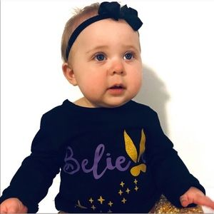 Toddler Girl Boutique Outfit Black and Gold